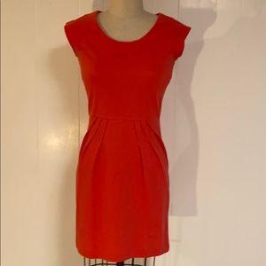 Banana Republic coral cap sleeve dress